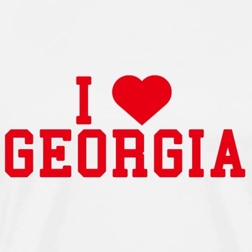 Georgia State Love Home gift idea men Women - Men's Premium T-Shirt