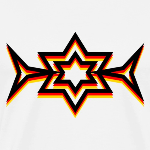 Starlight German Flag #1 - Men's Premium T-Shirt