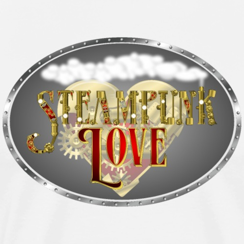 Steampunk Love Heart - Men's Premium T-Shirt