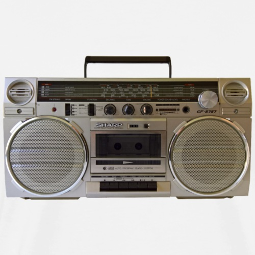 Boombox Sharp GF-5757 Ghettoblaster - Men's Premium T-Shirt