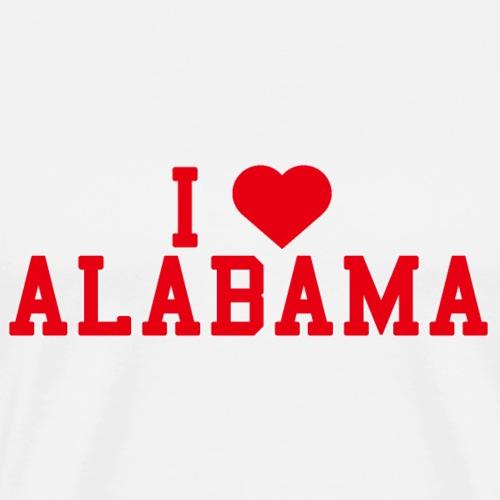 Alabama State Love Home gift idea men Women - Men's Premium T-Shirt