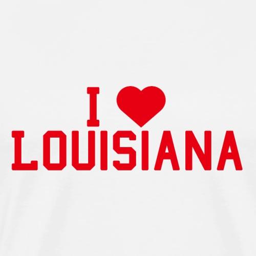 Louisiana State Love Home gift idea men Women - Men's Premium T-Shirt