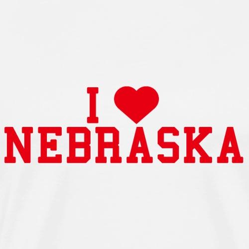 Nebraska State Love Home gift idea men Women - Men's Premium T-Shirt