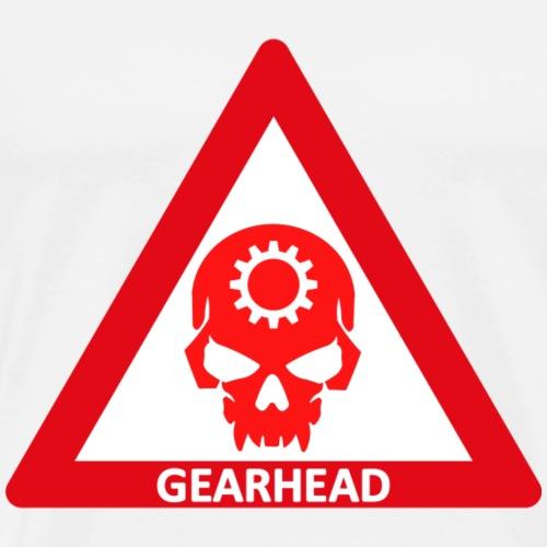 GEARHEAD WARNING SIGN - Men's Premium T-Shirt