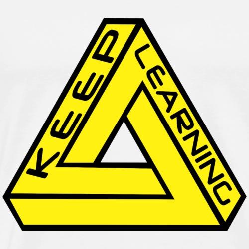 Keep Learning - Men's Premium T-Shirt