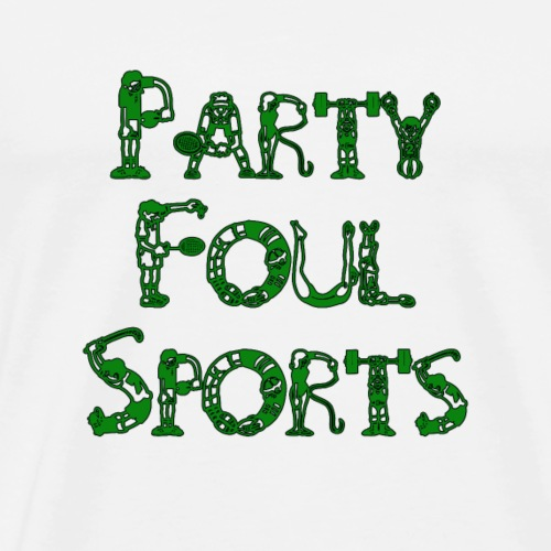 Party Foul Sports Sports Font - Men's Premium T-Shirt