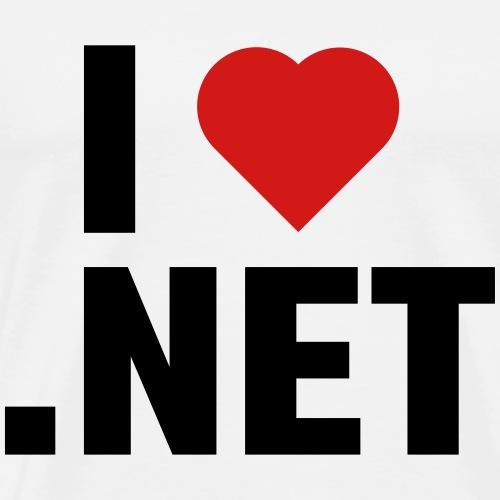 I Love .NET - Men's Premium T-Shirt