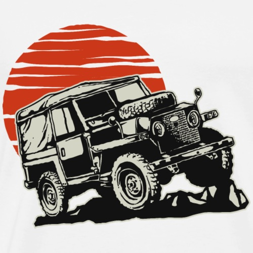 Retro Off road car vintage T-Shirt vector image - Men's Premium T-Shirt