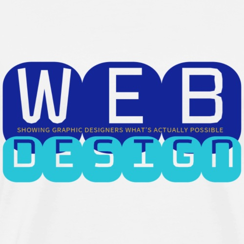 Web Design vs Graphic Design (Royal + Aqua) - Men's Premium T-Shirt
