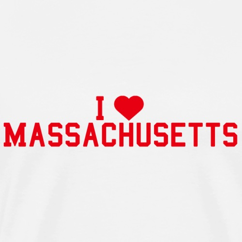 Massachusetts State Love Home gift idea men Women - Men's Premium T-Shirt