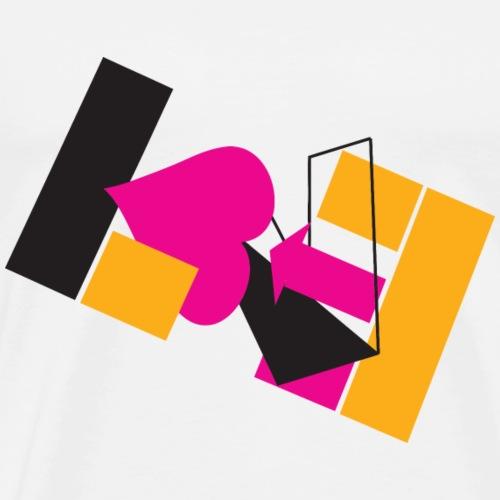 Abstract Love - Men's Premium T-Shirt