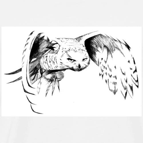 Owls Glare - Men's Premium T-Shirt