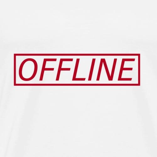 Offline Red - Men's Premium T-Shirt