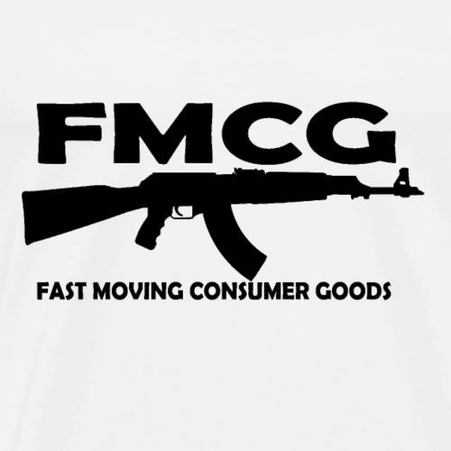 FMCG fast moving consumer goods (black text) - Men's Premium T-Shirt