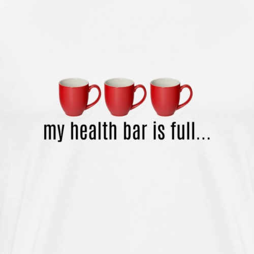 Coffee Cup Healthbar - Men's Premium T-Shirt