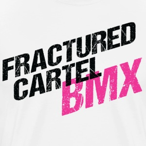Fractured Cartel BMX Black & Pink - Men's Premium T-Shirt