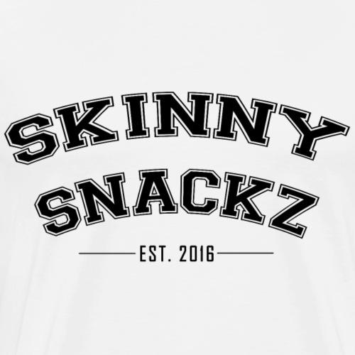 Skinny Snackz Varsity Letters - Men's Premium T-Shirt