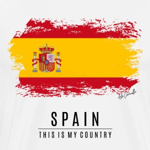 SPAIN FLAG - THIS IS MY COUNTRY - Men's Premium T-Shirt