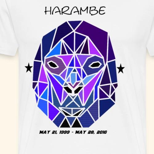 Harambe Geometric Shape - Men's Premium T-Shirt