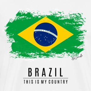 BRAZIL FLAG - THIS IS MY COUNTRY - Men's Premium T-Shirt
