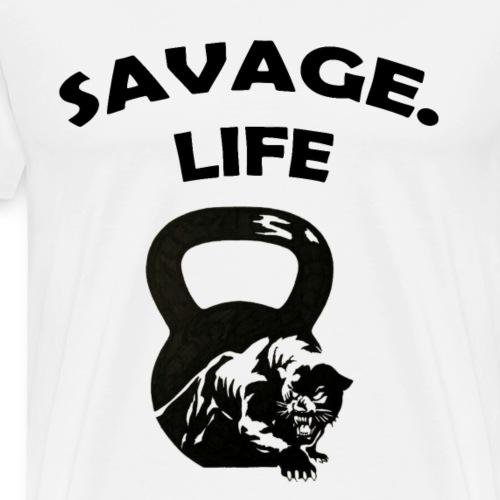 SAVAGE LIFE T-Shirt's For Men - Men's Premium T-Shirt