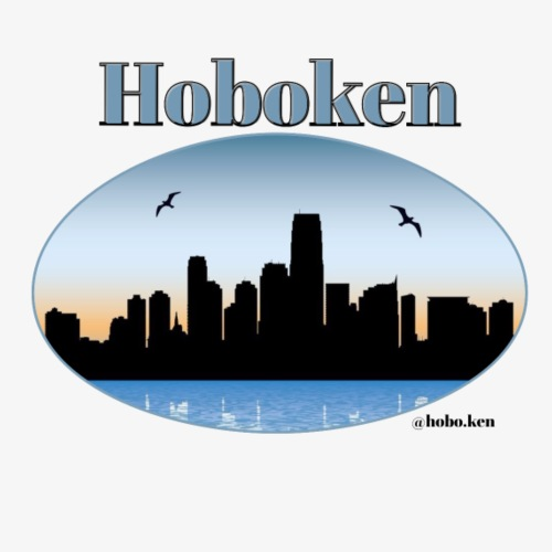 Hoboken Skyline - Men's Premium T-Shirt