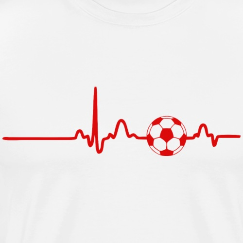 EKG HEARTBEAT BALL red - Men's Premium T-Shirt