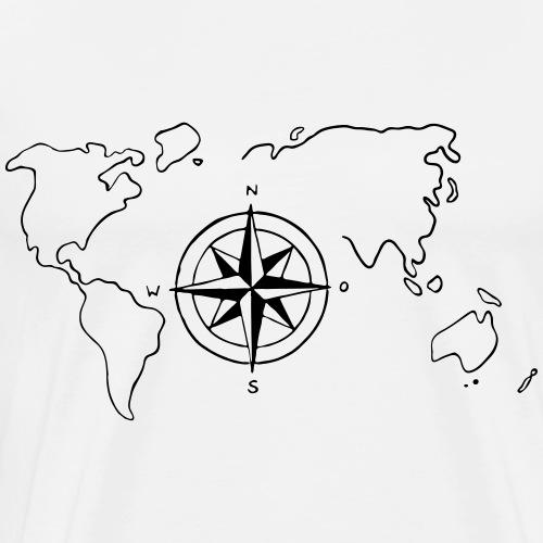 world-map - Men's Premium T-Shirt