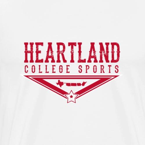 Heartland College Sports logo - Men's Premium T-Shirt