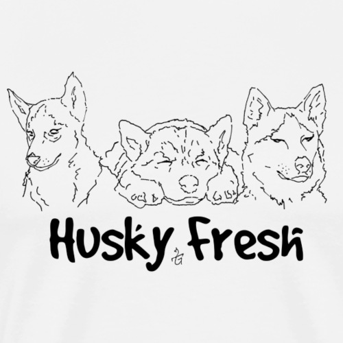 Dog Shirt | Husky Triple Fresh - Men's Premium T-Shirt
