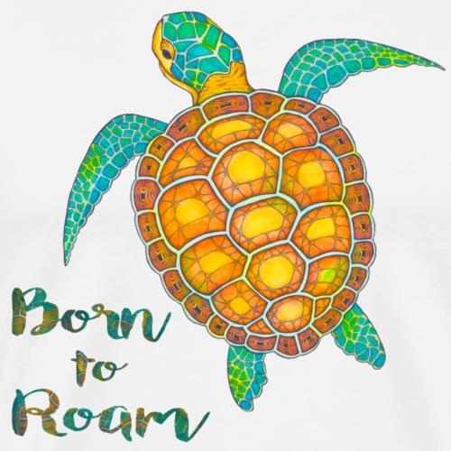 Seaturtle born to roam - Men's Premium T-Shirt