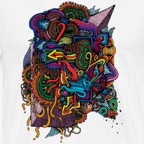 Colorful Doodle - Men's Premium T-Shirt