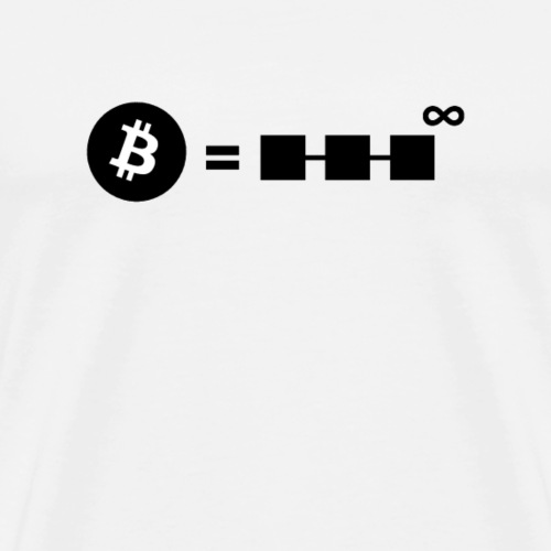 Bitcoin forever. - Men's Premium T-Shirt