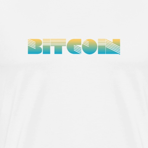 Bitcoin Art Deco Design - Men's Premium T-Shirt