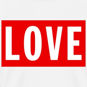 Love (Big/Red Border) - Men's Premium T-Shirt