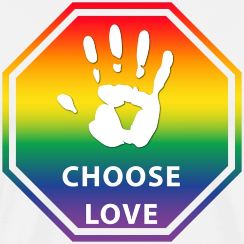 Choose Love LGBTQ Colors T-Shirt - Men's Premium T-Shirt