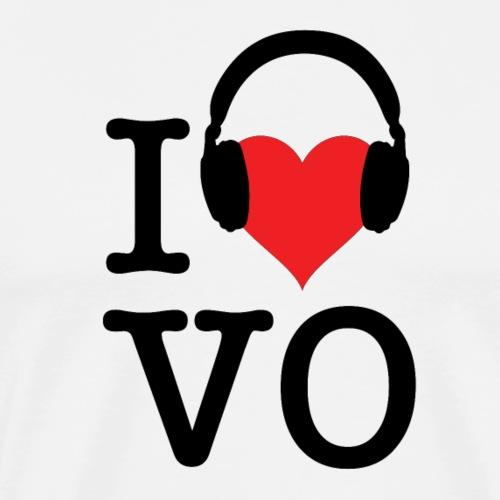 I Love VO - Black Font - Men's Premium T-Shirt
