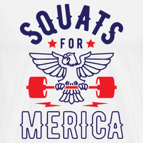 Squats For Merica v2 - Men's Premium T-Shirt