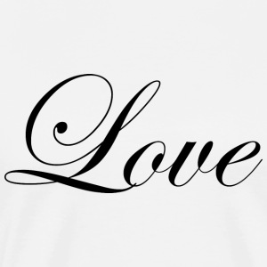 Love - Fancy Cursive Design (Black Letters) - Men's Premium T-Shirt