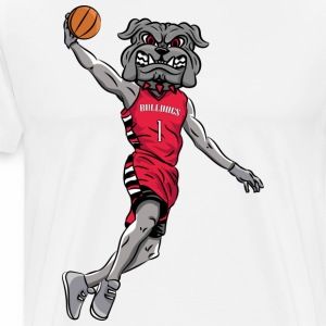 custom bulldog mascot wm-basketball - Men's Premium T-Shirt