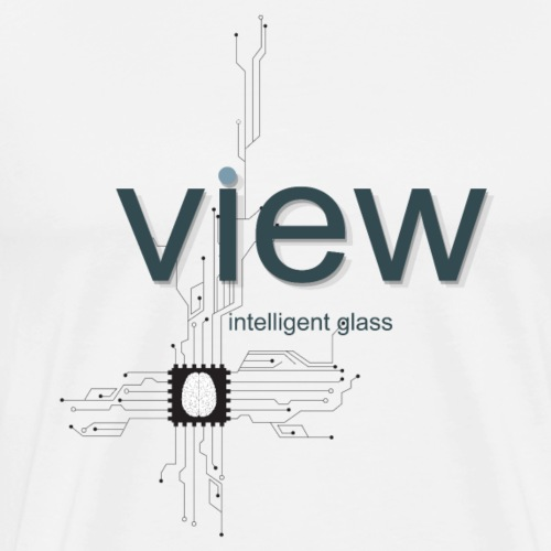 View Glass Circuit Board Design - Men's Premium T-Shirt