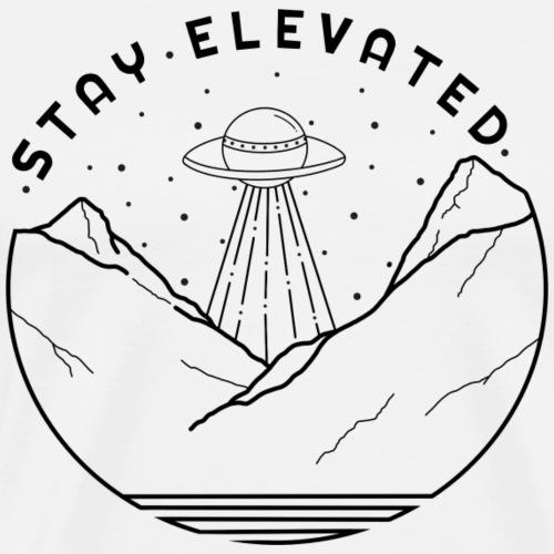 Aliens Stay Elevated - Men's Premium T-Shirt