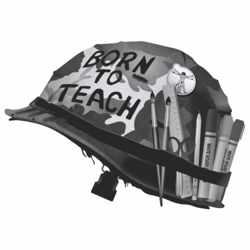 Born to teach Arts B&W - Men's Premium T-Shirt