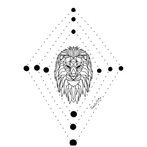 Geometric Lion - Men's Premium T-Shirt