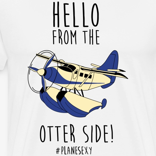 Hello From The Otter Side - Dark Text - Men's Premium T-Shirt