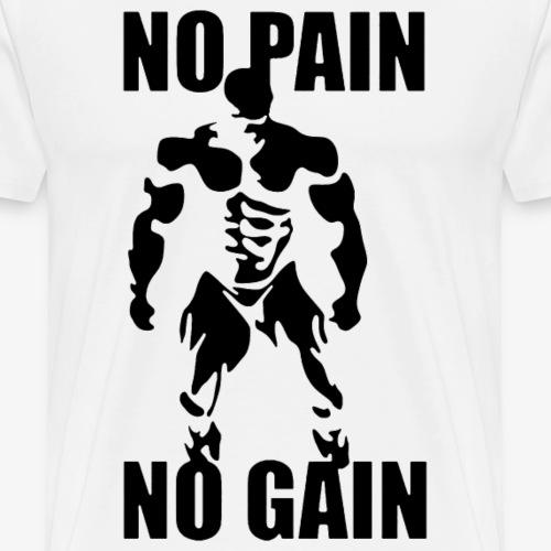 no pain negro - Men's Premium T-Shirt