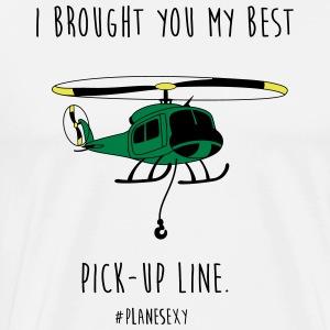 I brought you my Best Pick-up Line (Black & White) - Men's Premium T-Shirt
