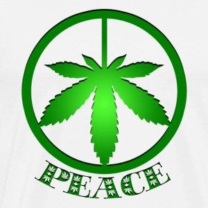 Marijuana Peace Sign Tee Shirts - Peace and Love - Men's Premium T-Shirt