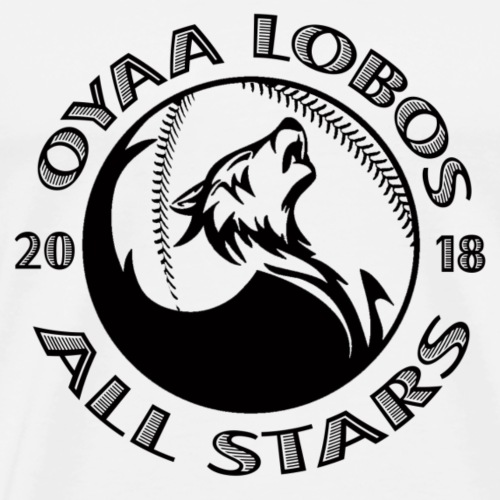 OYAA Lobos All Stars Black Logo - Men's Premium T-Shirt