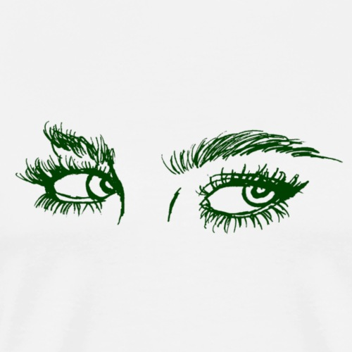 Real Eyes - Green - Men's Premium T-Shirt